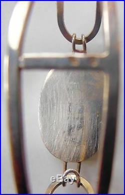 RARE bracelet argent massif et pierre d'agate DESIGN 70'S -VINTAGE POINÇONNÉ