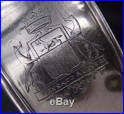Rare Cuillere A Ragout En Argent Massif Poincon 1 Er Coq Paris 1798 Armoiries