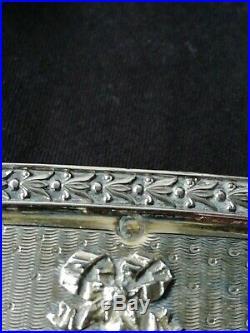 Rare Flacon Timbale Cristal Vermeil Argent Massif Poinçon Minerve 19 ème