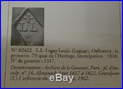 Rare Legumier Et Couvercle En Argent Massif France Poincon Coq Paris 1809
