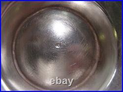 Rare Pot A Oil 1.4 KG En Argent Massif Poincon Minerve 1 Er Titre Decor Floral