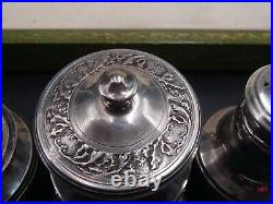 Rare Service A Condiments En Argent Massif Poincon Minerve Decor Art Nouveau
