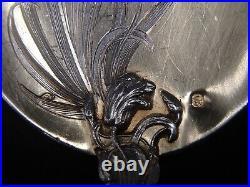 Rare Service A Glace Argent Massif Et Vermeil Poincon Minerve Art Nouveau