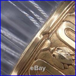 Rare Service A Liqueur 14 Pieces En Cristal Et Vermeil Poincon Minerve Coffret
