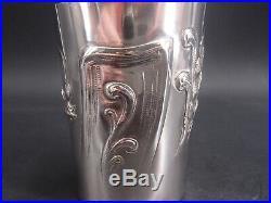Rare Timbale En Argent Massif Poincon Minerve Epoque Art Nouveau Marguerites