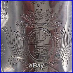 Rare Vase Ou Rafraichissoir N°2 Argent Massif Poincon Minerve Armoiries 19 Eme
