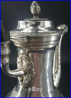 Rare Verseuse En Argent Massif Poincon 1 Er Coq Paris 1798 Bec Tete Bouledogue