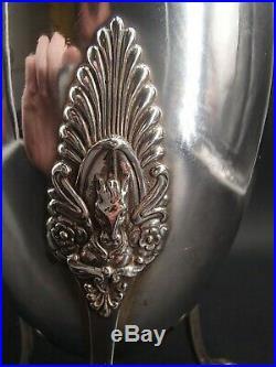 Rare Verseuse Tripode En Argent Massif Poincon Coq Paris 1809 Bec Cheval