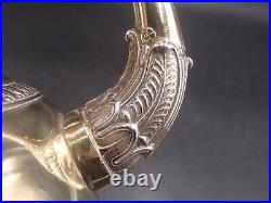 Rare Verseuse Tripode En Vermeil Poincon Viellard Paris 1819 Bec Tete De Cygne