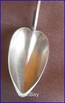 Rare cuillère tamponnoir à médicaments argent massif poinçon Vieillard 1819 1838
