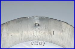 SUPERBE ANCIEN BRACELET MANCHETTE ARGENT poinçon AFRIQUE DU NORD bijou 139,4 g