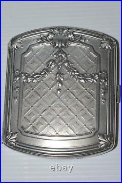 SUPERBE BOITE A CIGARETTES ARGENT style LOUIS XV poinçon sanglier + Orfèvre