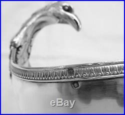 Saucière casque style EMPIRE en ARGENT MASSIF poinçon MINERVE époque XIXe 1840