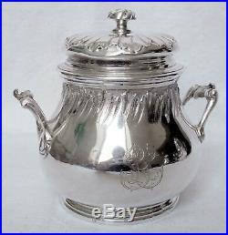 Service à thé et café style Louis XV ARGENT MASSIF, par Hénin, POINCON MINERVE