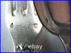 Six couverts argent massif 950 poinçon Minerve par Olier & Caron poids 848 g