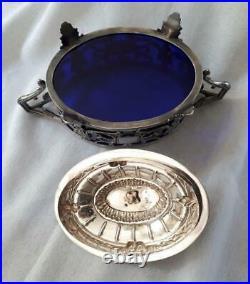 Somptueux sucrier ovale fin XIXème argent Massif poinçon Minerve