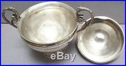 Sucrier argent massif début du 19e siècle Empire Poinçon Coq silver sugar pot