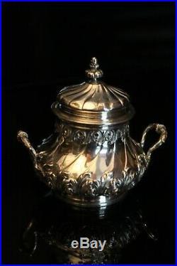 Sucrier de style Louis XV en argent massif poinçon Minerve