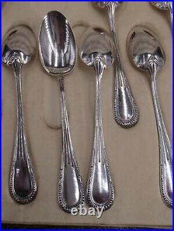 Suite 12 Cuilleres A Cafe Argent Massif Poincon Minerve Perles Rubans Coffret