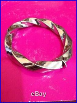 Superbe Bracelet Rigide En argent massif poinçonné 925 Et Celui De L'orfèvre