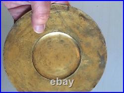Superbe Patène argent Calice Reliquaire religious Silver 19TH Poinçon Vase Coeur