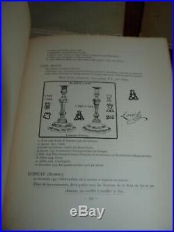Superbes livres NOCQ HENRY LE POINÇON DE PARIS RÉPERTOIRE ARGENT MASSIF 18ème