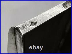 Tabatière en argent massif XIX poinçon Minerve 6cm