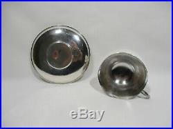 Tasse Et Sous Tasse Argent Massif Poincons Monogramme Silver Cup Silberbecher