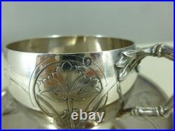 Tasse à café ARGENT MASSIF poinçon MINERVE 1r Titre sterling silver 139g lot n°2