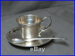 Tasse à café Sous-Tasse et Cuillère Argent Poinçon Minerve Tallois& Mayence 1880
