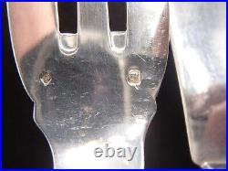 Tetard Menagere A Poisson 26 Pieces En Argent Massif Poincon Minerve Uni-plat