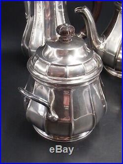 Tetard Service The Cafe 4 Pieces En Argent Massif Poincon Minerve 1 Er Titre