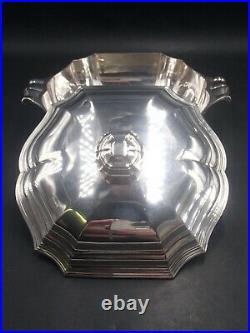Tetard Tres Beau Legumier En Argent Massif Poincon Minerve Modele Art Deco