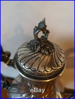 Théière argent massif FOLLIOT poinçon minerve verseuse 725 grs 19ème siècle