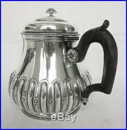 Théière verseuse style Régence ARGENT MASSIF, poinçon MINERVE, époque fin XIXe