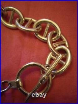 Très Beau Et Important Collier En Argent Massif Style Hermès poinçon 925