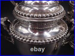 Tres Beau Service The Cafe 4 Pieces Argent Massif Poincon Minerve 2.7 KG Perles