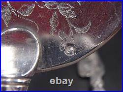 Tres Beaux Couverts A Glace Entierement En Argent Massif Poincon Minerve