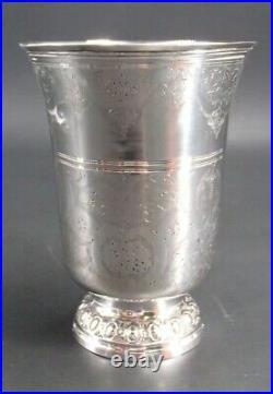 Tres Belle Timbale Tulipe Ciselee En Argent Massif Poincon 1 Er Coq Paris 1798