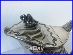 Très belle et lourde verseuse coquillage argent massif XIXème poinçons minerve