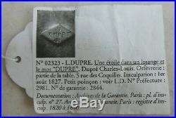 Très belle paire de salerons, salières, argent poinçon Vieillard, 1818-1838