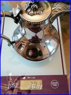 Verseuse cafetière en argent Massif Poinçon Minerve 1er Titre 291gr fin 19ème