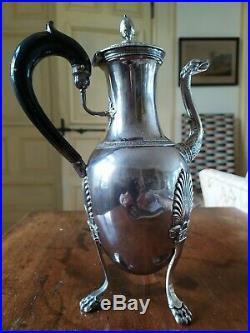 Verseuse/cafetière en argent Massif, poinçon vieillard. 1819-1838