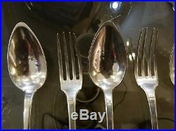 Vrai Serie 6 Couverts Argent Massif Poincons Vieillard Xix° 950/1000 Uni Plat